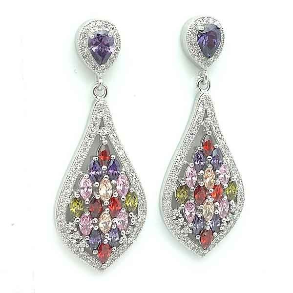 Zirconia earrings colors