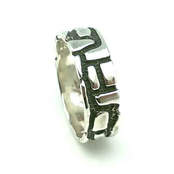 Mens ring in silver
