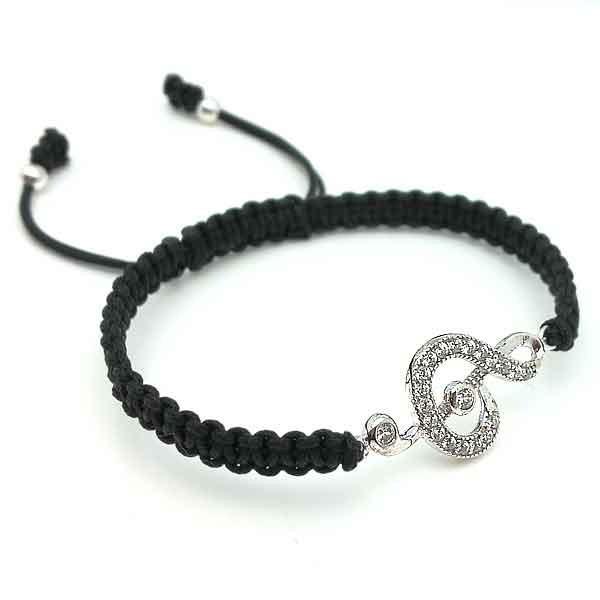 Adjustable bracelet, treble clef