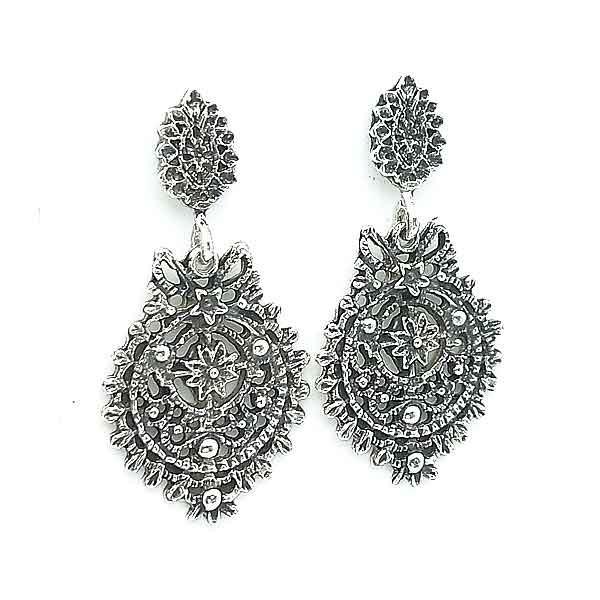 Silver earrings Galician