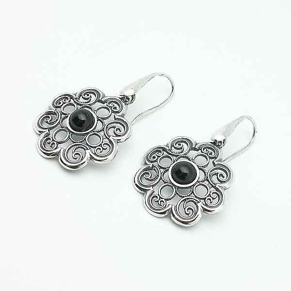Earrings artisans in silver