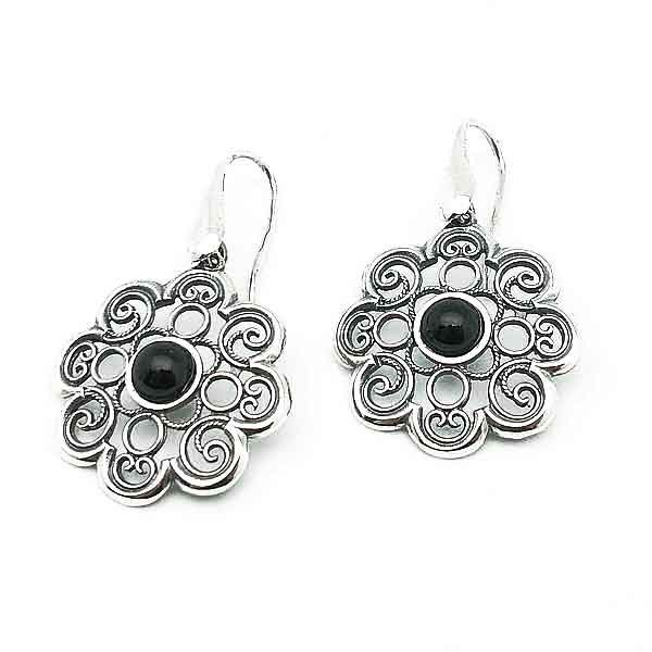 Earrings artisans in silver