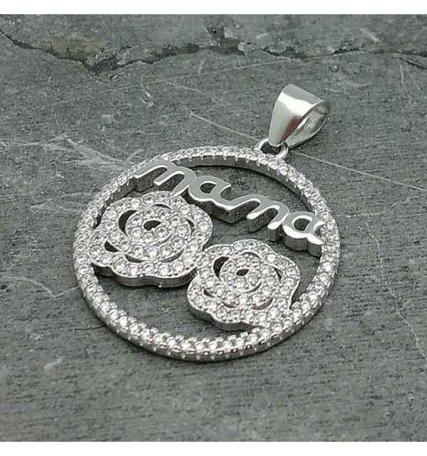 Silver pendant for Mom