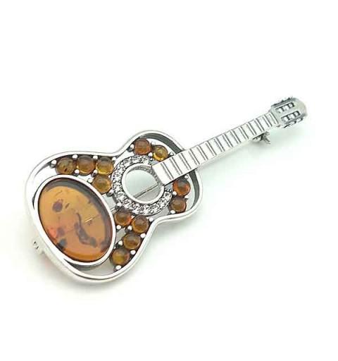Guitar brooch