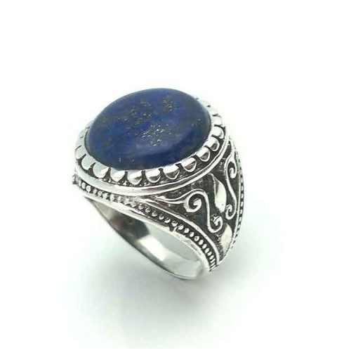 Ring silver and lapis