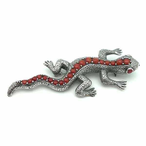 Broche con forma de lagarto