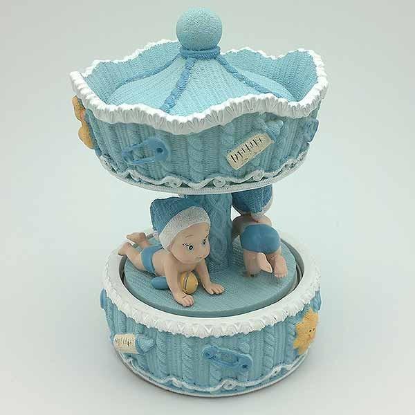 Children carousel blue