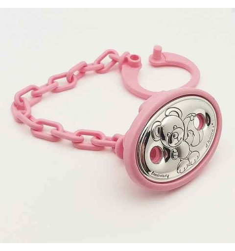 Pacifier clip, pink