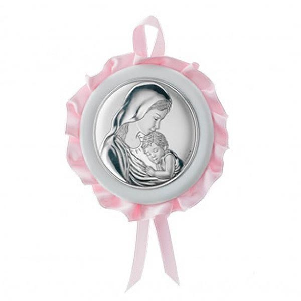 Medalla para cuna, rosa.