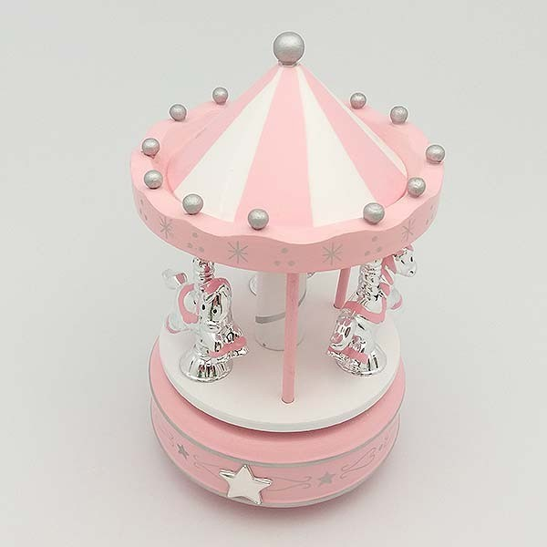 Carousel with ponies, pink