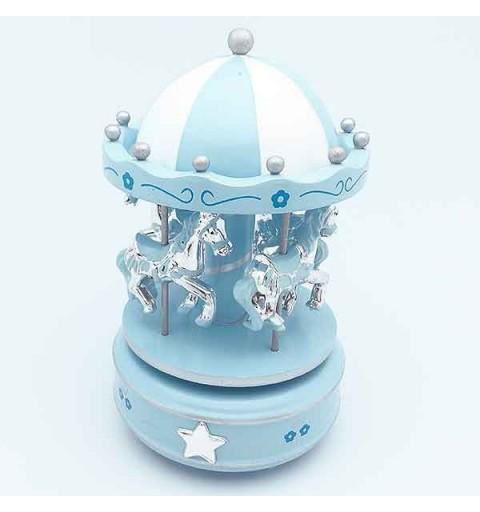 Children's carousel, blue