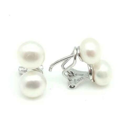 Pendientes dos perlas