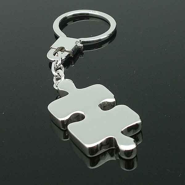 Llavero, con forma pieza puzzle