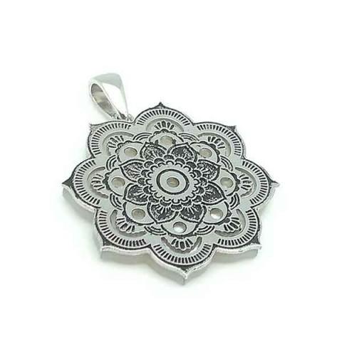 Mandala silver pendant