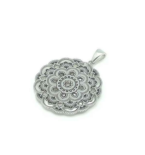Silver and nacre pendant