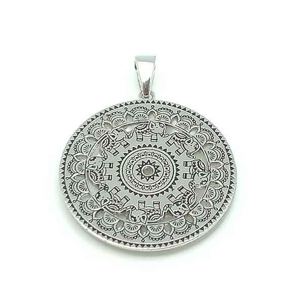 Silver and mother of pearl mandala
