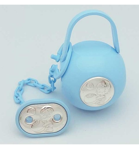 Case with pacifier clip