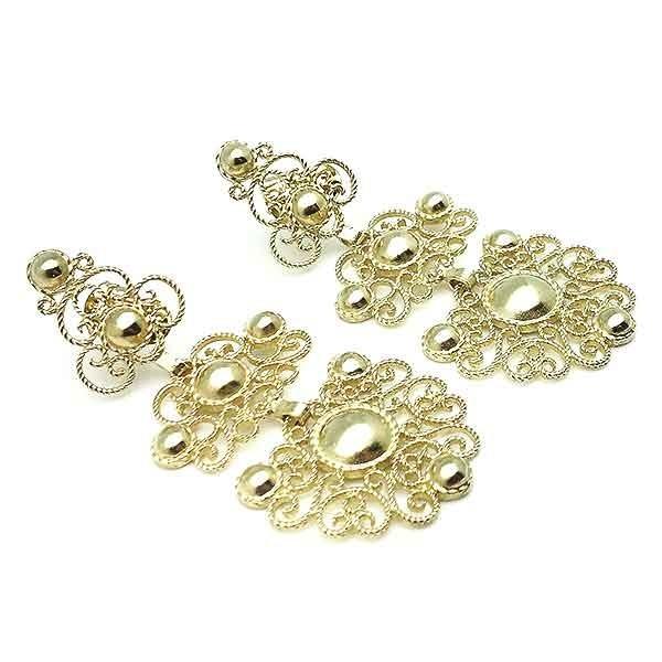 Pendientes plata dorados