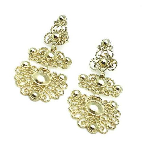 Silver earrings, gold plated