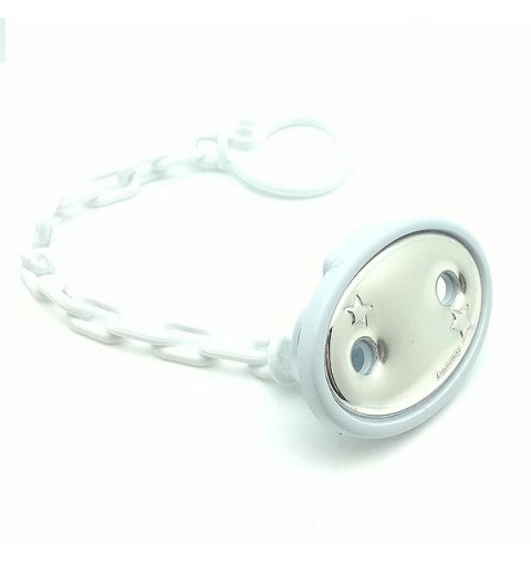 Pacifier clip white color
