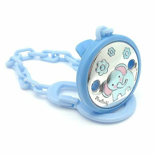 Pacifier clip, blue