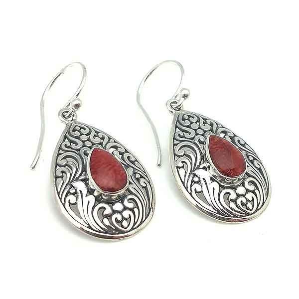 Coral root earrings