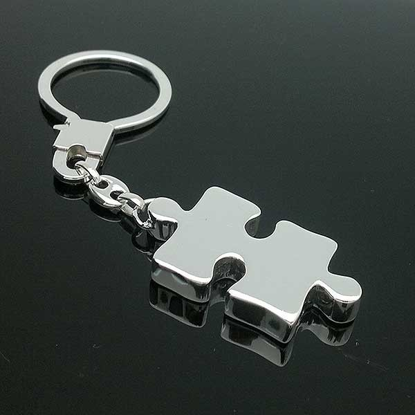 Keychain, shape puzzle piece