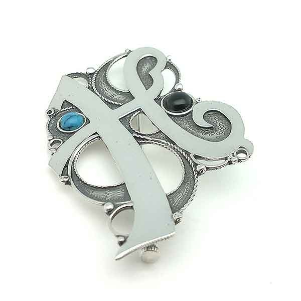 Initial Brooch H