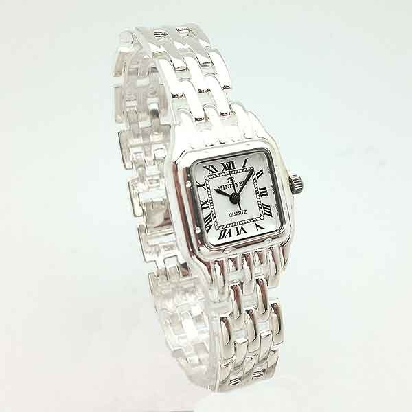 Silver watch, cartier type