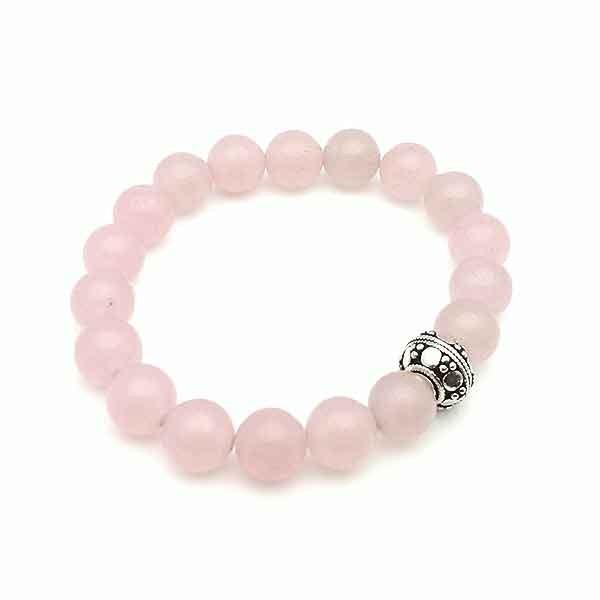 Elastic Rose Quartz Bracelet