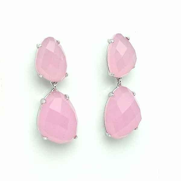 Pink tone earrings