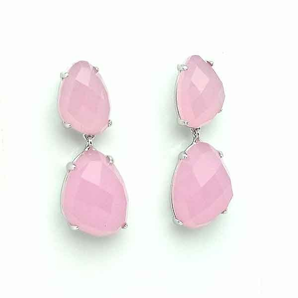 Pink tone earrings
