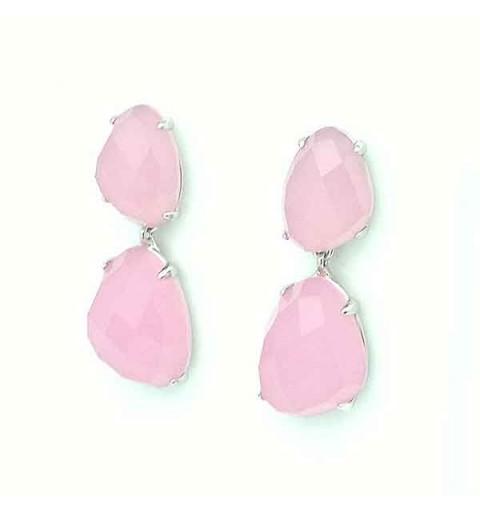 Pendientes tono rosa