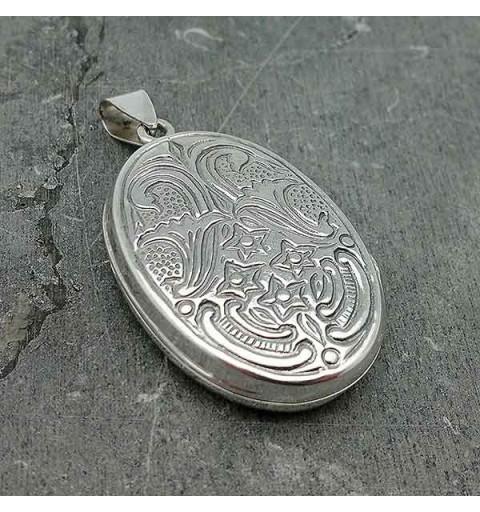 Colgante guardapelo en plata