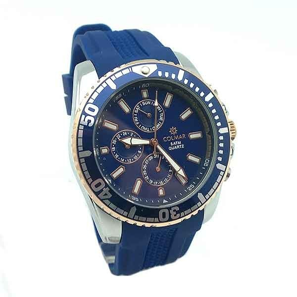 Men's watch, blue color