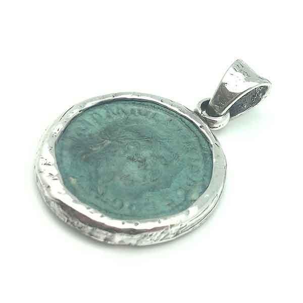 Roman coin pendant