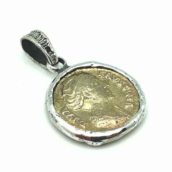 Pendant with Roman coin
