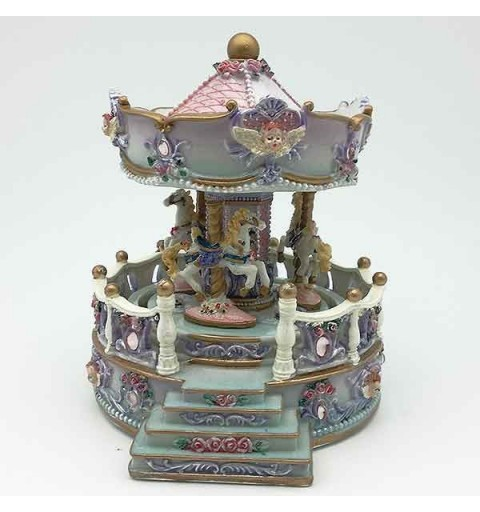 Carousel with balustrade