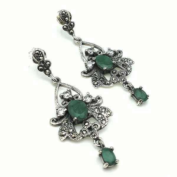 Pendientes de esmeraldas