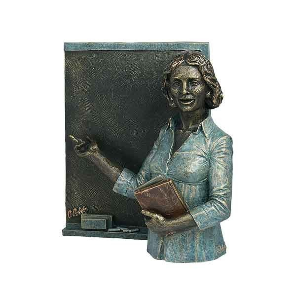 Teacher with blackboard (woman)