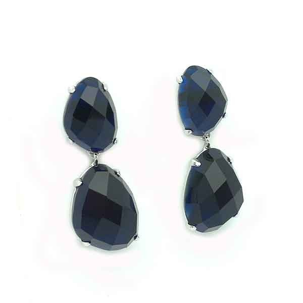 Blue tone earrings