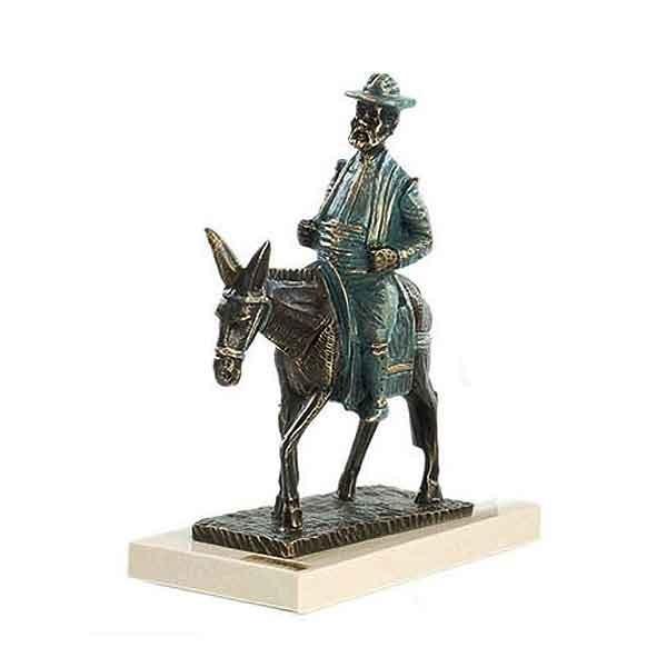 Sancho Panza on a donkey
