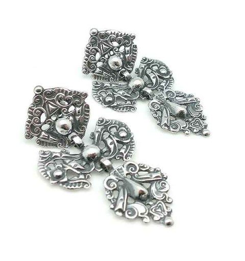 Old silver earrings