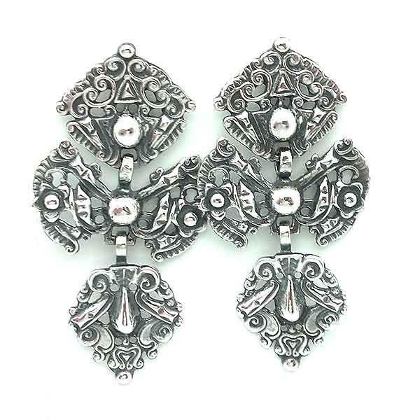 Old silver earrings
