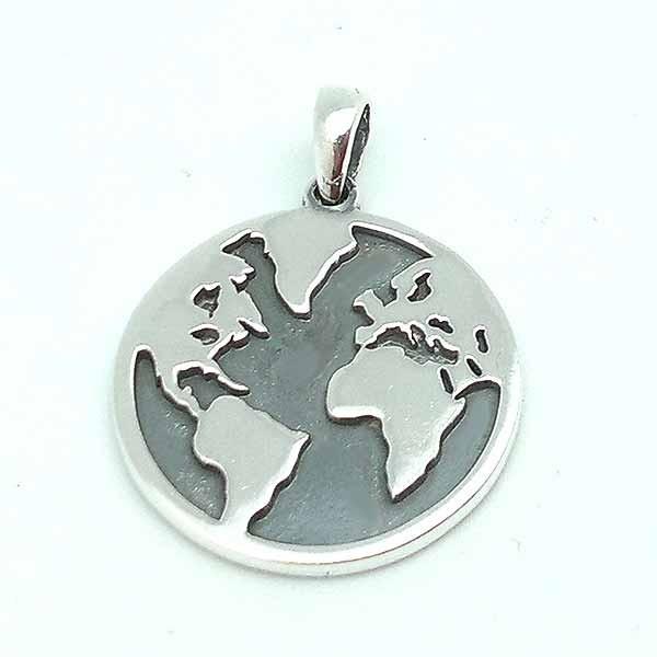 World map pendant