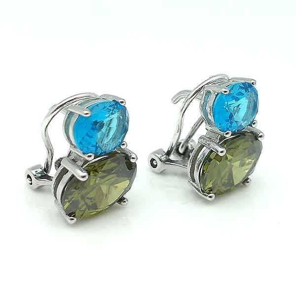 Omega closure earrings