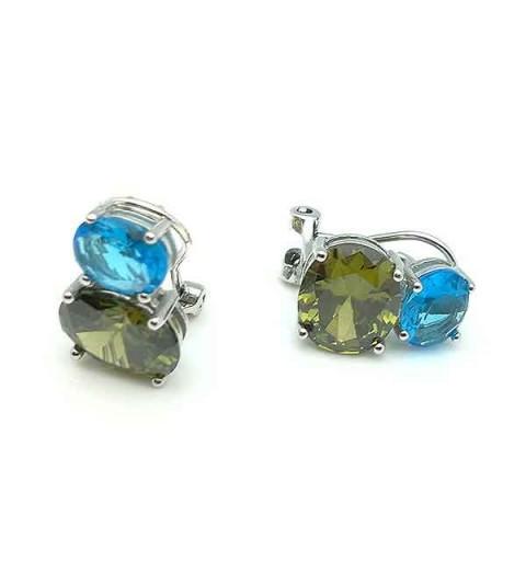 Omega closure earrings
