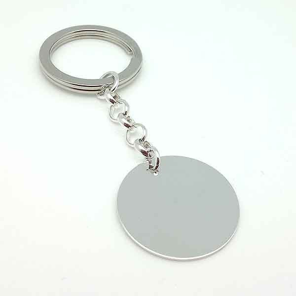 Silver keychain for dad