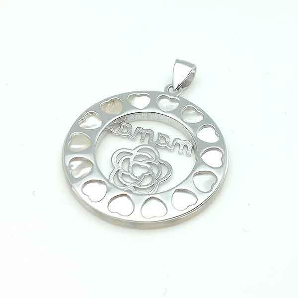 Silver pendant for Mom