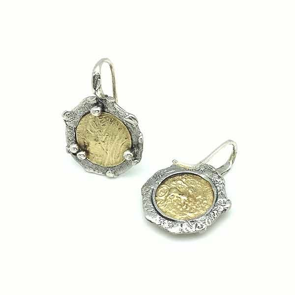 Roman coin earrings